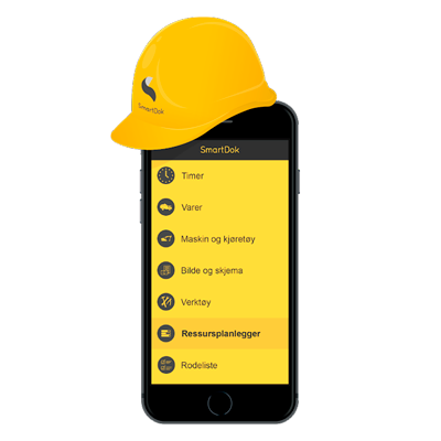 SmartDok mobil med anleggshjelm