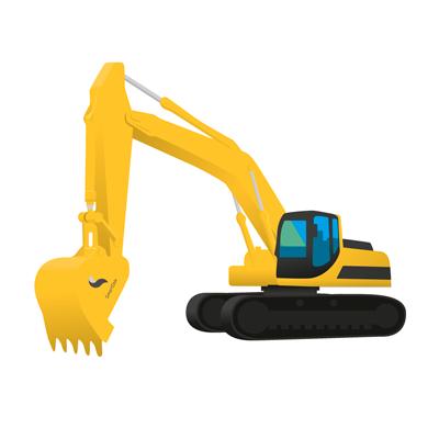 Bilde av en gravemaskin med SmartDok logo. Til maskinmodulen.
