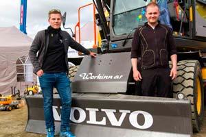Workinn med sin nye Volvo maskin