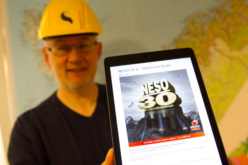 Vidar Berg Hansen er klar for speeddating på NESO sitt 30-års jubileum. Foto: Lasse Sørnes