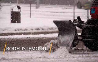 Bilde av brøyting av snø for rodelistemodulen