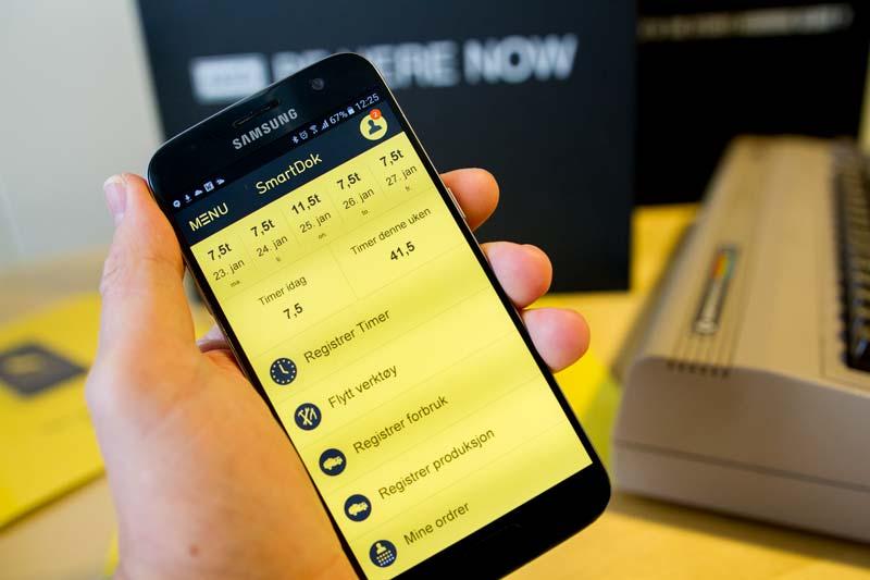 SmartDok sin app på en mobilskjerm