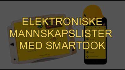 mannskapslister fra SmartDok via Byggekortleser og mobil