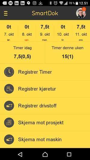 SmartDok Mobil Kjørebok