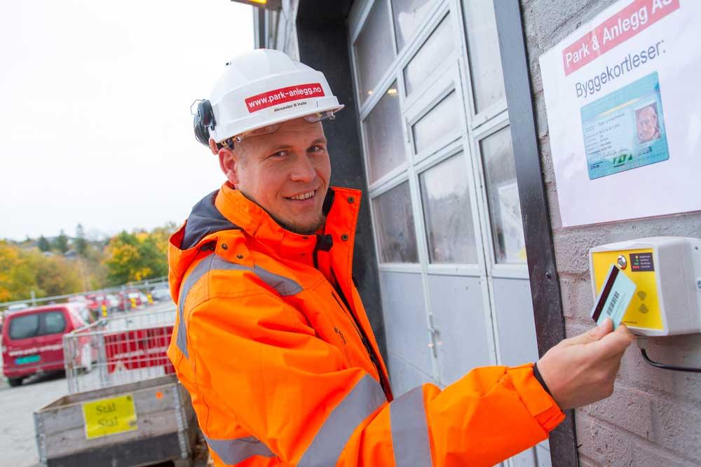 SmartDok byggekortleser hos Park & Anlegg