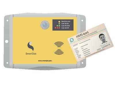 Tillater registrering fra smarttelefon i kombinasjon med vår nye Byggekortleser