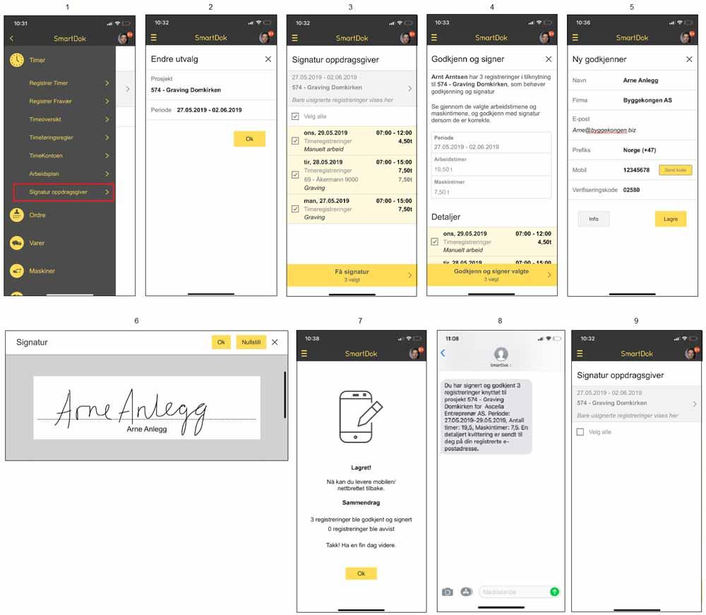 Signatur oppdragsgiver SmartDok