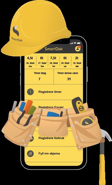 SmartDok app for bygg og anlegg snekker