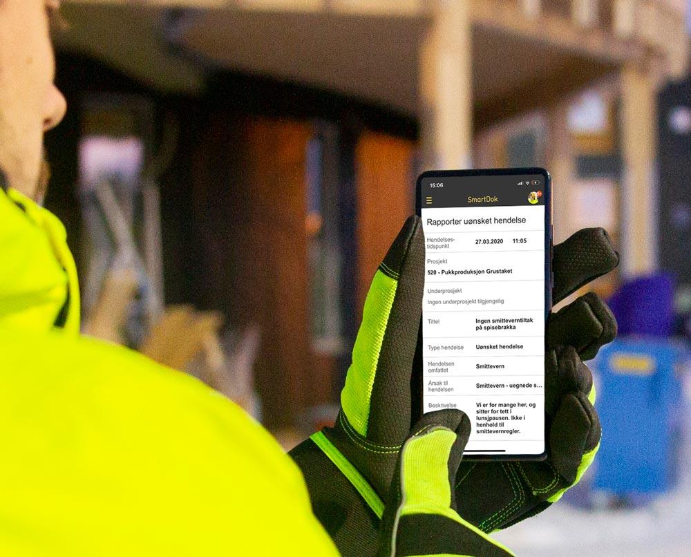 Registrerer RUH i SmartDok