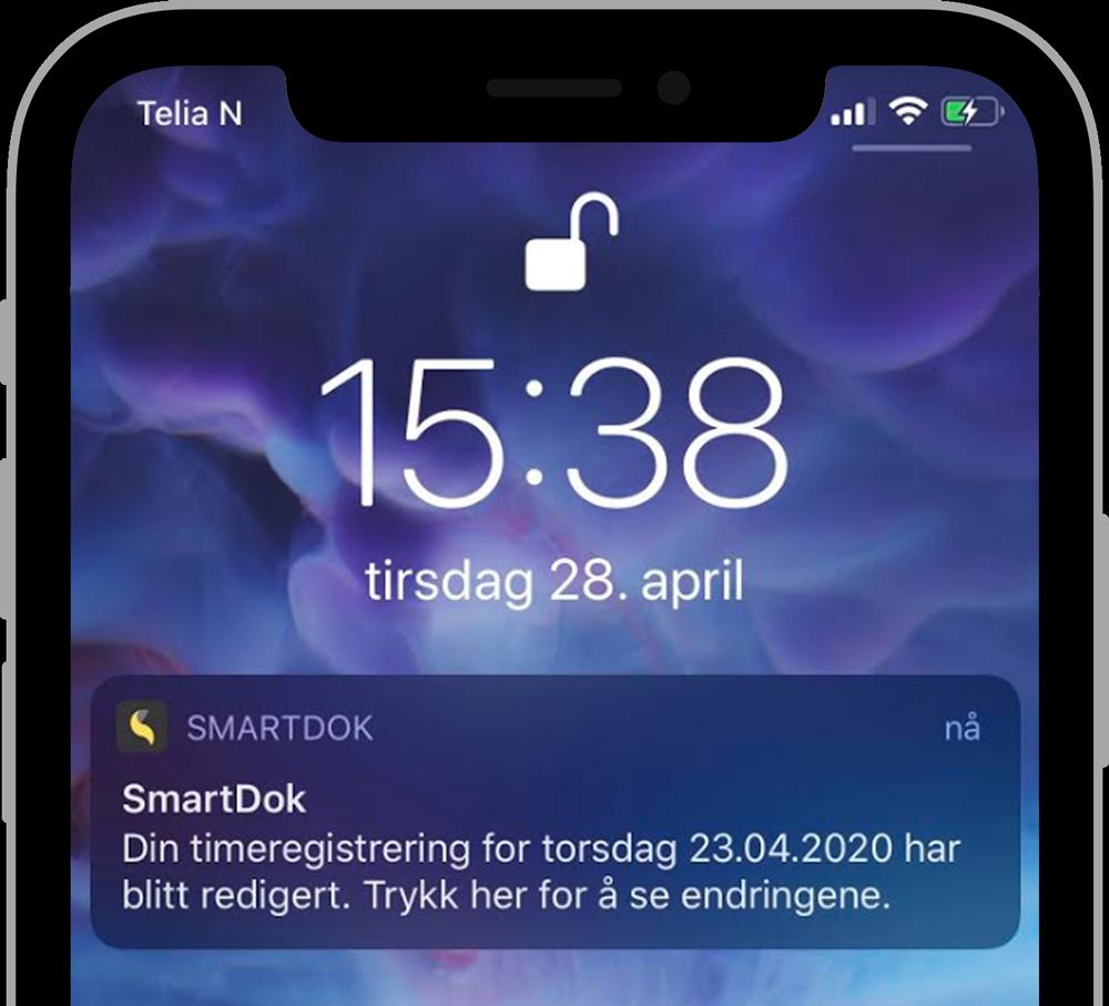 Pushvarsel på mobil
