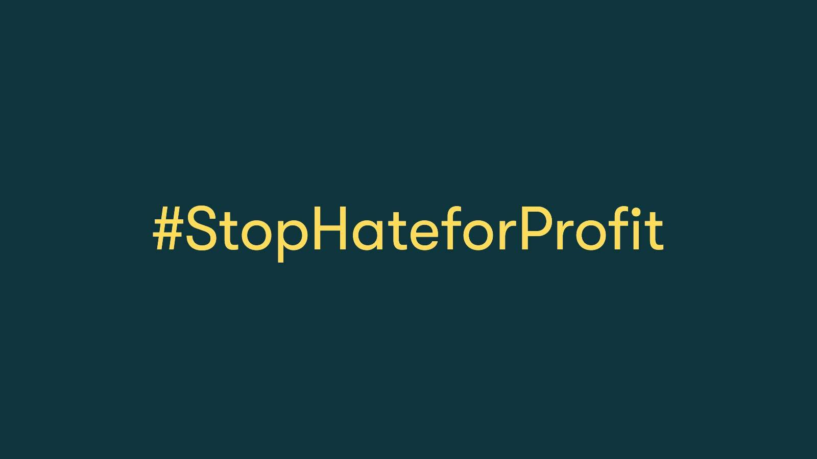 vi med i #StopHateForProfitcampaign