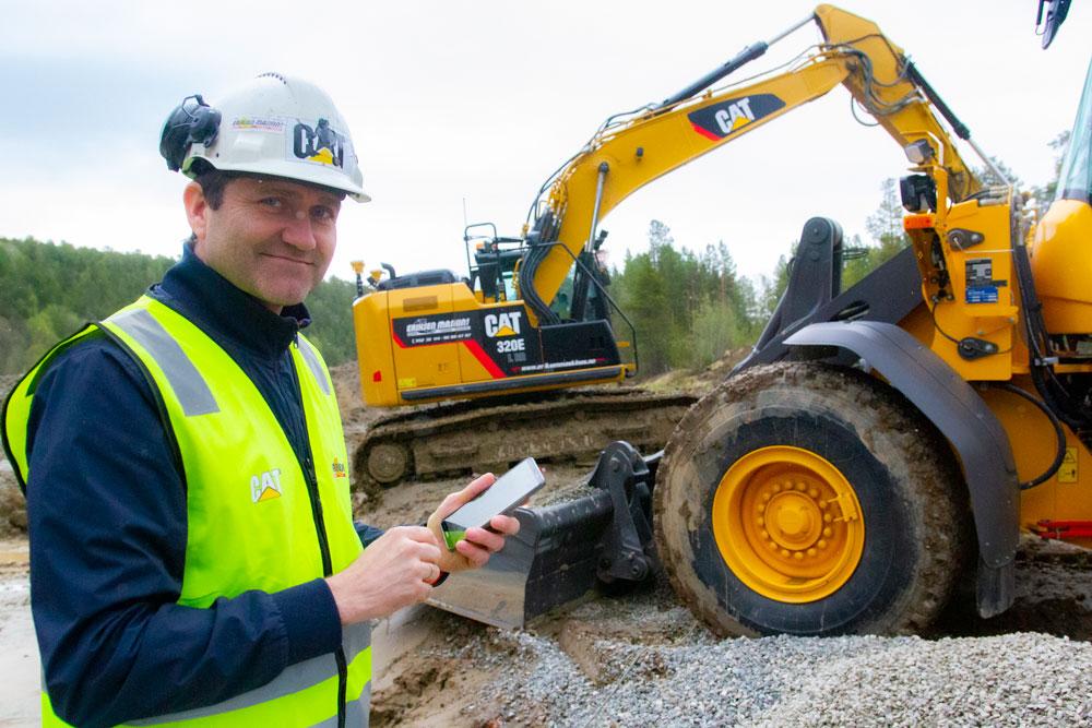 Per Tore og gravemaskiner