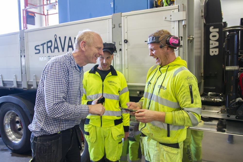 Stråvalla Maskinstation arbeidere bruker SmartDok