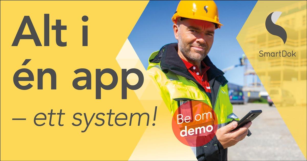 Norges beste app for anleggsbransjen