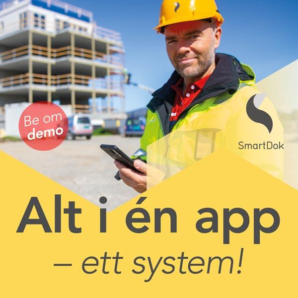 Norges beste app for anleggsbransjen - SmartDok